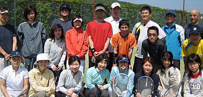スターテニススクール熊本の生徒達