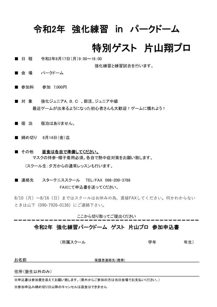 令和2年8月17日 ジュニア強化練習 パークドーム-1